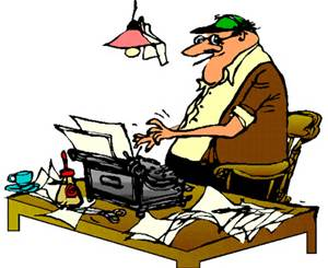 EDITING – CARTOON EDITOR AT DESK